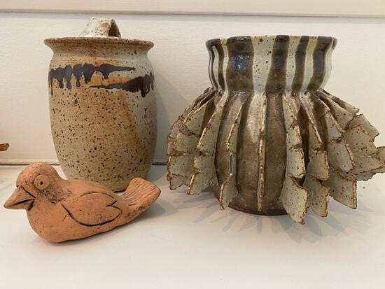 Three Pieces Of Art Pottery