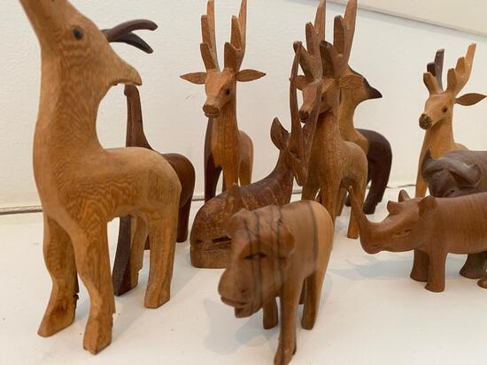 Wooden Carved Animals