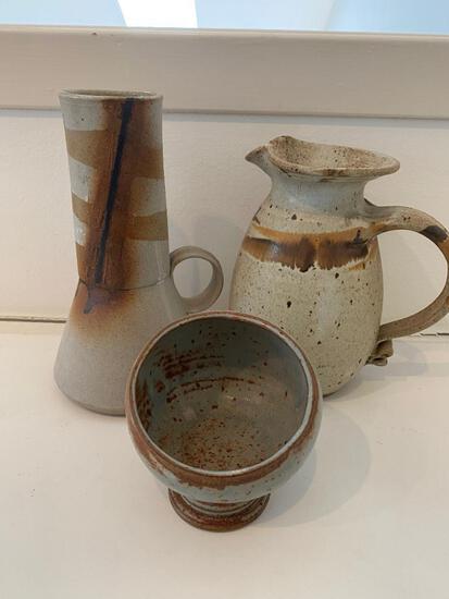 Three Handmade Ceramic Vessels