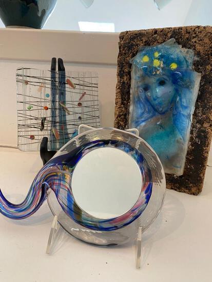 Three Glass Art Pieces