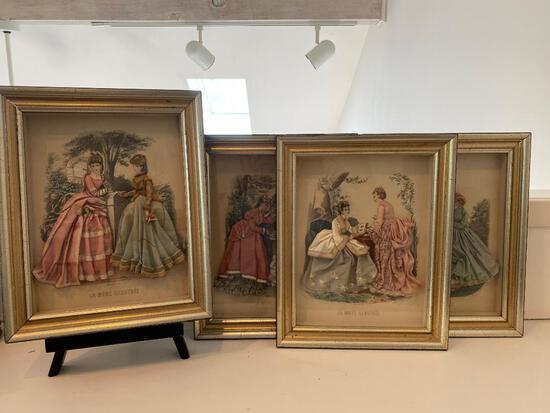 Embellished Currier and Ives Prints
