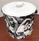 Vintage Kraftware Garden of Eden Ice Bucket from NYC