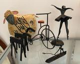 Misc Wire and Metal Art Pieces