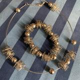 Art Wire Bracelet and Matching Necklace