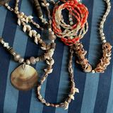 Shell, Coral and Pearl Necklaces