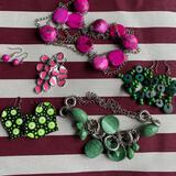 Green and Pink Jewelry