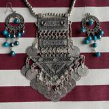 Silver Necklace with Bells and Charms