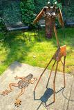 Metal Giraffe and Frog