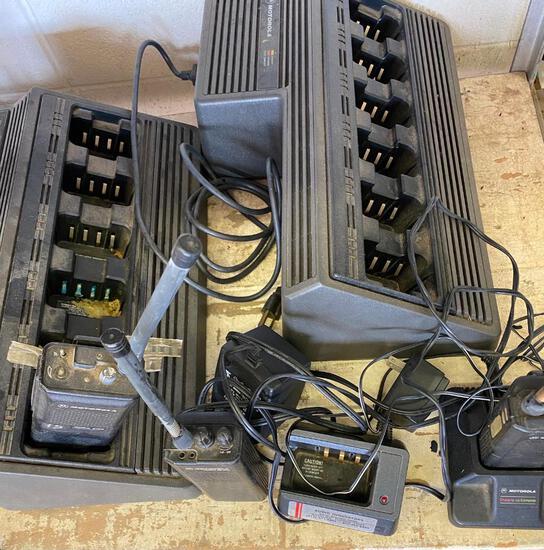 Lot of Motorola 2-way Radios and Charging Stations