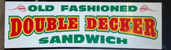 """Acrylic """"Old Fashioned Double Decker Sandwich"""" Sign"""