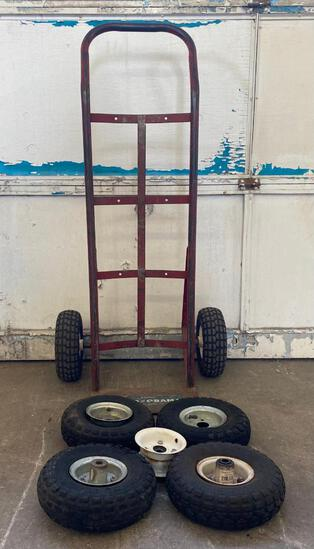 Milwaukee Red Dolly/Handtruck with Extra Tires