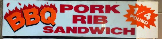 """Acrylic """"BBQ Pork Rib Sandwich"""" Sign (Style A)"""