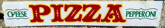 """Acrylic """"Pizza"""" Sign Approximate Dimensions:...82"""" x 16"""""""