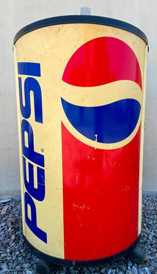 """Large """"Pepsi Can"""" Ice Cooler Barrel (Classic Style)"""