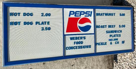 Pepsi Letterboard Sign