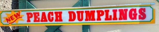 """Acrylic """"Peach Dumpling"""" Sign"""