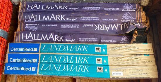 Seven Packs of CertainTeed Shingles (Hallmark and Landmark)