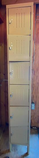 One Column of Six Personal Lockers