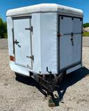 24ft Trailer with Interior Shelves and Multiple Doors