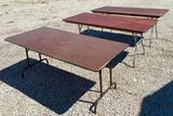 Three Folding Dining Tables