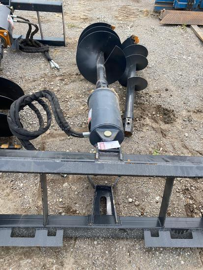 NEW Wolverine Co Hydraulic Skidloader Auger Set w/ 12 & 18 in bits (2 sets pictured-only one in