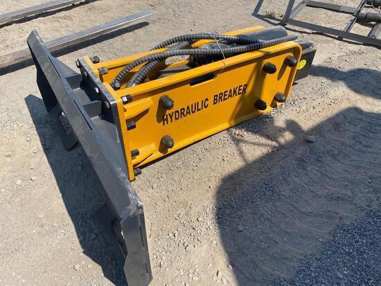 NEW Wolverine Co Hydraulic Skidloader Breaker Attachment #ZW-750