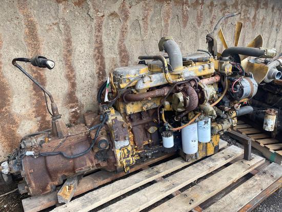Caterpillar 3176-6 cyl Diesel Engine w/ Eaton Fuller Transmission