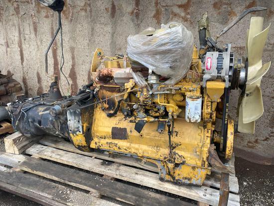Caterpillar 3208-6 cyl Diesel Engine w/ Eaton Transmission
