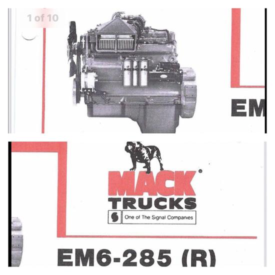 Extremely RARE Mack RM6-285 (R) Diesel Engine & Maxitorque Transmission
