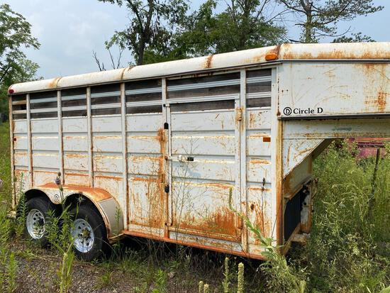 Circle D Co 14ft Gooseneck Horse Trailer
