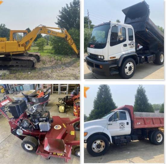 Online-Only Concrete Contractor Equipment Auction