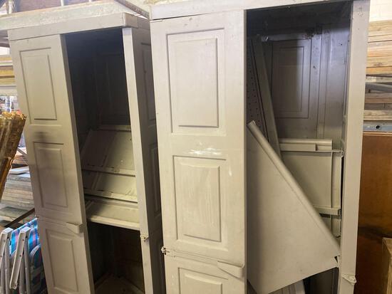 (2) Plastic storage lockers