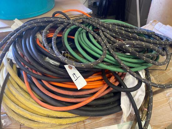 Assorted air hose lot