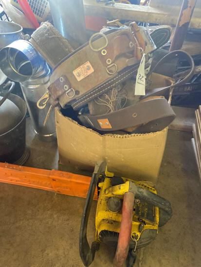 Tool belts and chainsaw