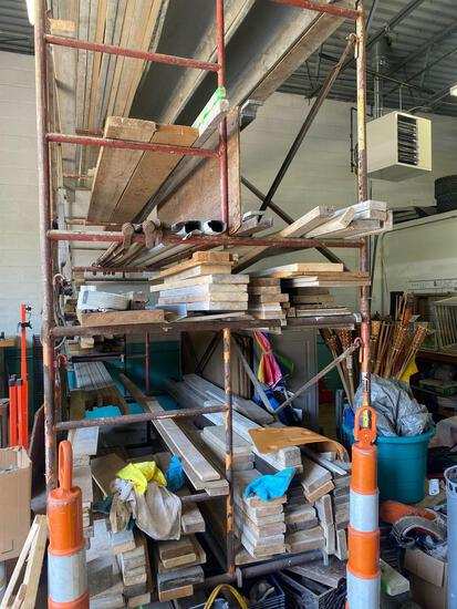 All lumber used for forms-shelf/scaffold not included