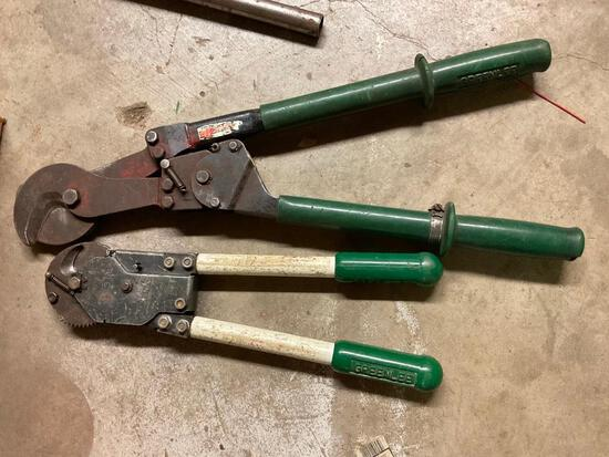 2 Ratcheting Cable Cutters
