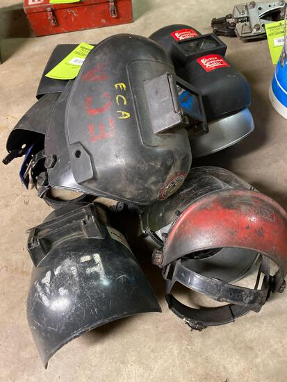 Lot Welding Helmets and Parts