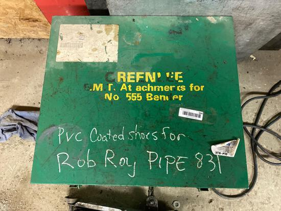Greenlee PVC coated shoes (for 555 pipe bender) with metal box