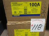 2 Boxes 100 AMP Safety Swicth