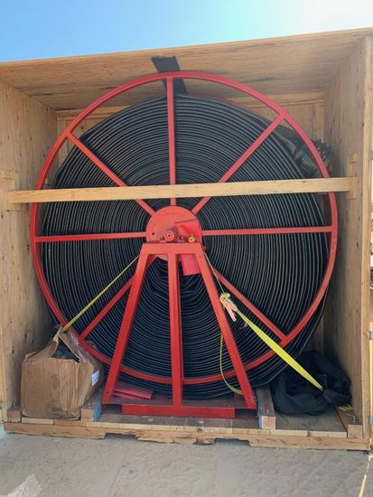 """10"""" New Layflat Hose and Reel"""