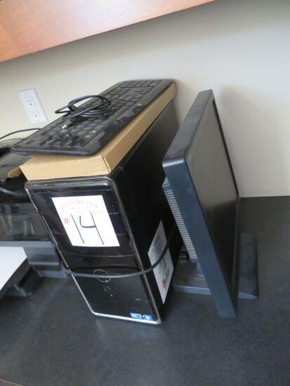 Monitor, Tower, Keyboard