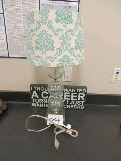 Lamp w/Sign