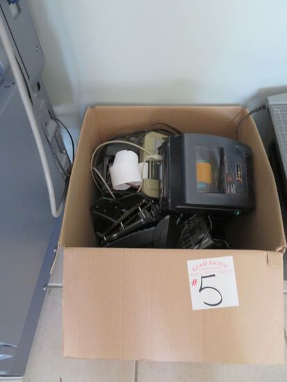 Box w/Phones and misc