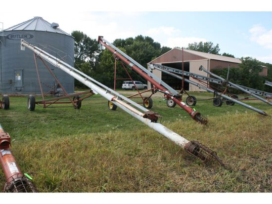 """Feterl 8""""x56' Auger w/Side PTO & Mechanical Lift (white);"""