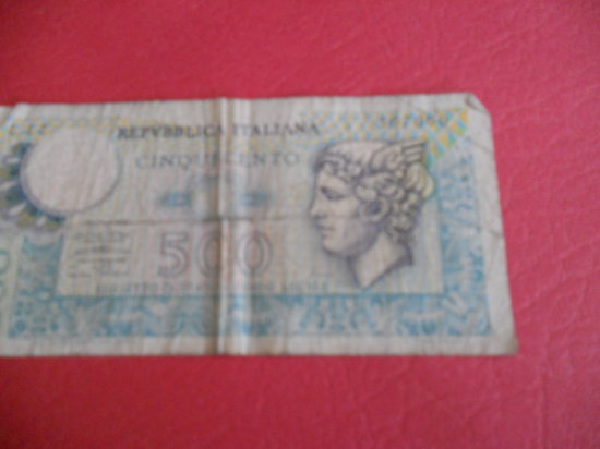 Italy 500 LIRE Note, 1979
