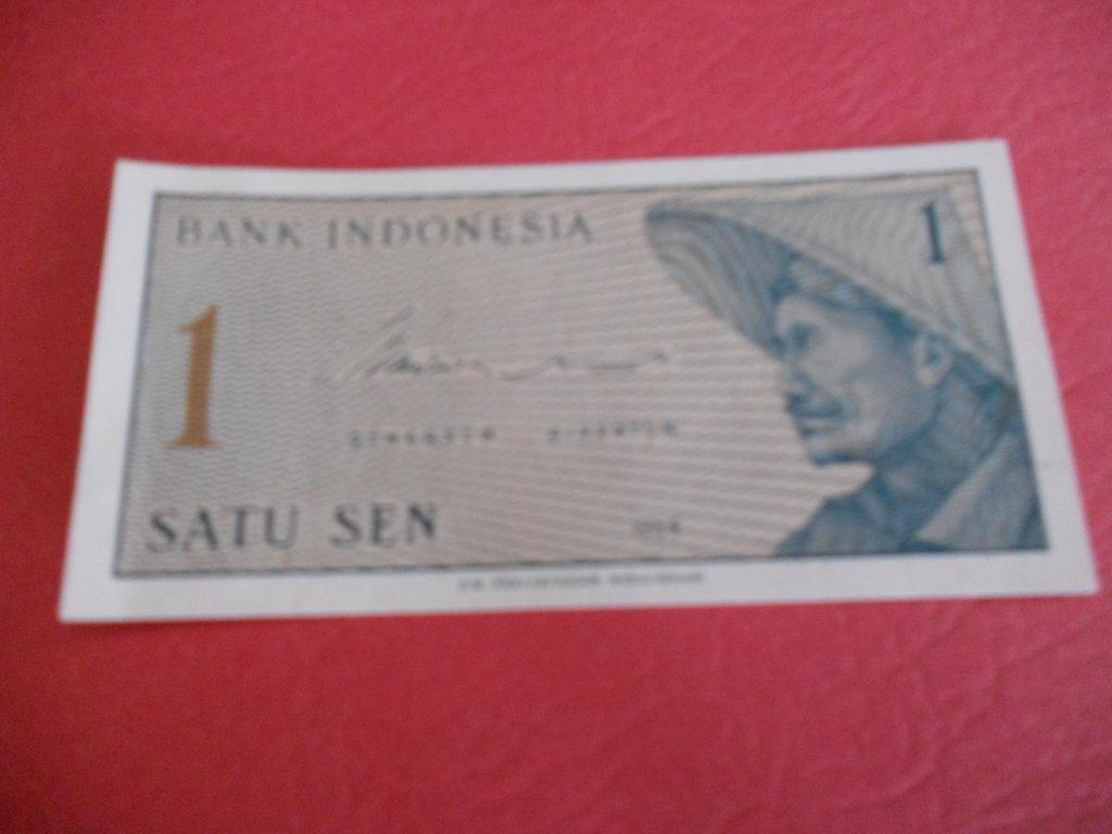Bank Indonesia,1964, 1 SATU SEN currency