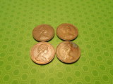 Lot of 4, 1971 New Penny, Great Britain