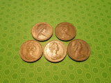 Lot of 5 Great Britain New Penny