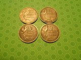 Lot of 4, France, 10 Francs, 1951-1953