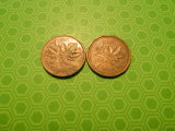 Lot of 2, Canada One Cent